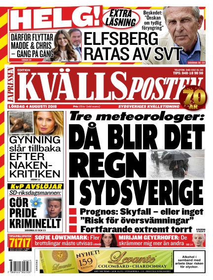 Kvällsposten August 04, 2018 00:00
