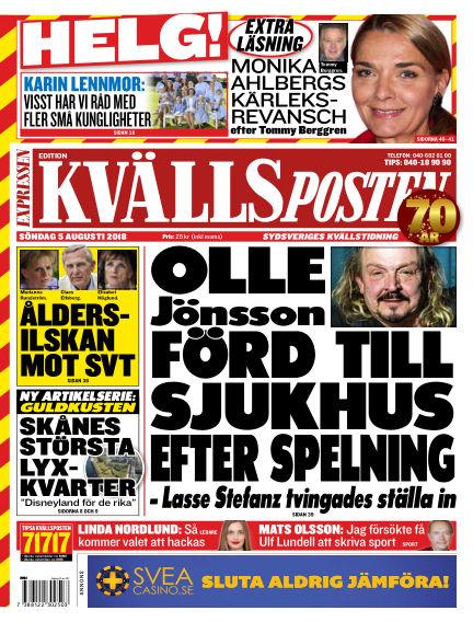 Kvällsposten August 05, 2018 00:00