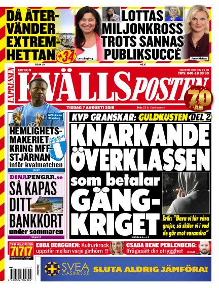 Kvällsposten August 07, 2018 00:00
