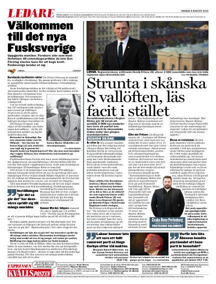 Kvällsposten August 08, 2018 00:00