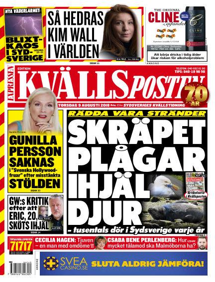 Kvällsposten August 09, 2018 00:00