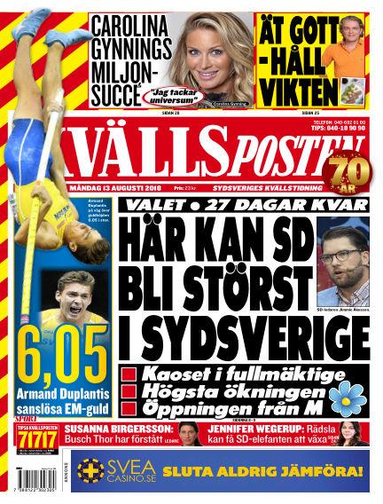 Kvällsposten August 13, 2018 00:00