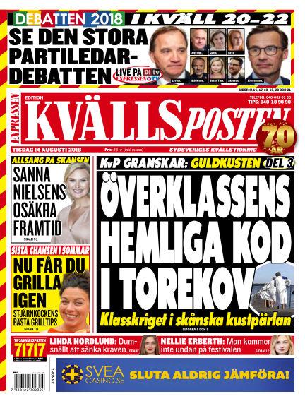 Kvällsposten August 14, 2018 00:00
