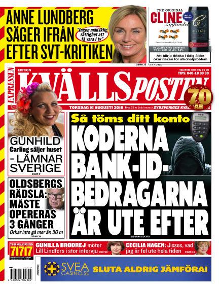 Kvällsposten August 16, 2018 00:00