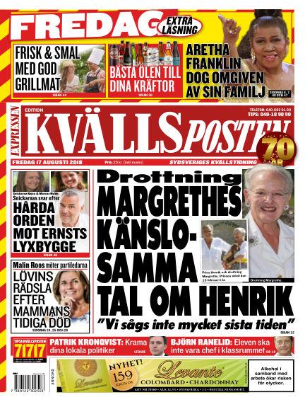 Kvällsposten August 17, 2018 00:00