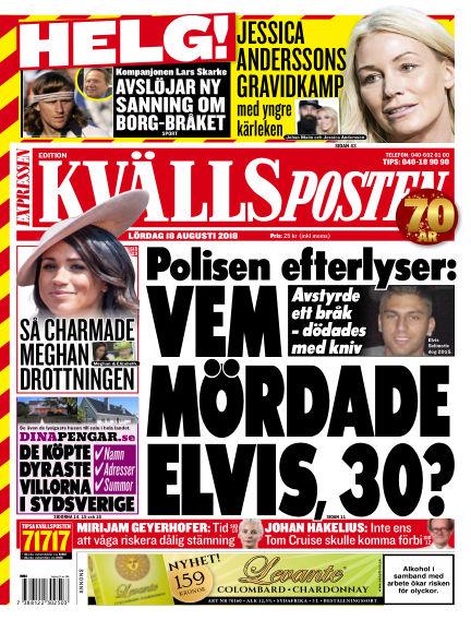 Kvällsposten August 18, 2018 00:00