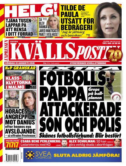 Kvällsposten August 19, 2018 00:00