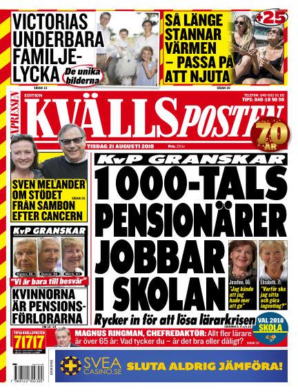 Kvällsposten August 21, 2018 00:00