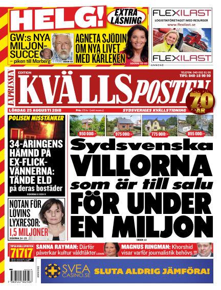 Kvällsposten August 25, 2018 00:00