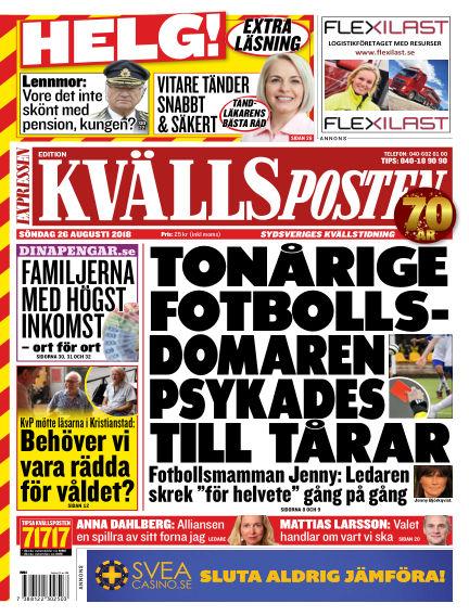 Kvällsposten August 26, 2018 00:00