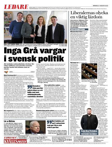 Kvällsposten August 27, 2018 00:00