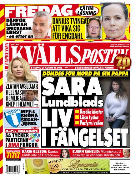 Kvällsposten August 31, 2018 00:00