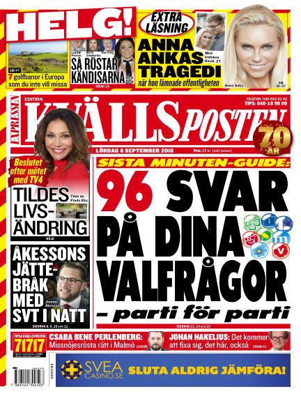Kvällsposten September 08, 2018 00:00