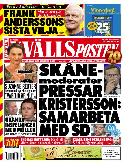 Kvällsposten September 12, 2018 00:00