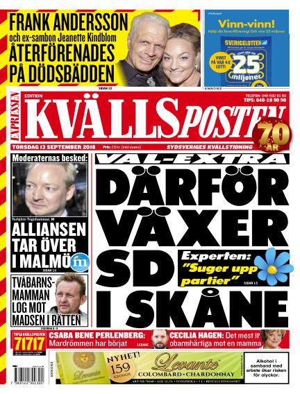 Kvällsposten September 13, 2018 00:00