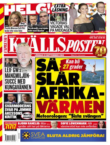 Kvällsposten September 15, 2018 00:00