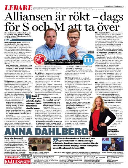 Kvällsposten September 16, 2018 00:00