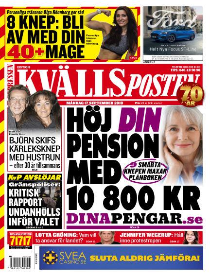 Kvällsposten September 17, 2018 00:00