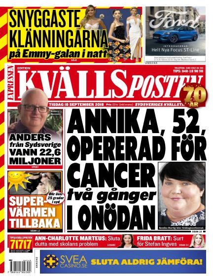 Kvällsposten September 18, 2018 00:00