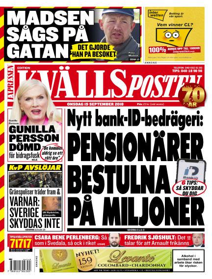 Kvällsposten September 19, 2018 00:00
