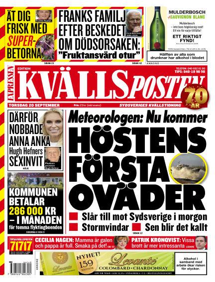 Kvällsposten September 20, 2018 00:00
