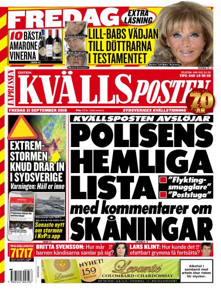 Kvällsposten September 21, 2018 00:00