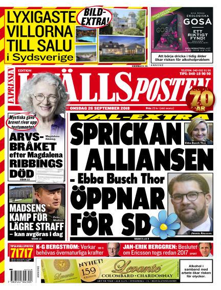Kvällsposten September 26, 2018 00:00