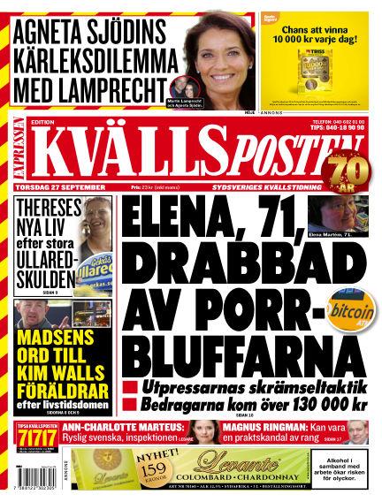 Kvällsposten September 27, 2018 00:00