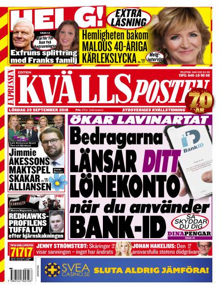 Kvällsposten September 29, 2018 00:00