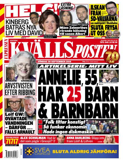 Kvällsposten September 30, 2018 00:00