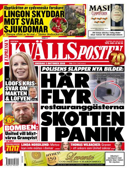 Kvällsposten October 03, 2018 00:00