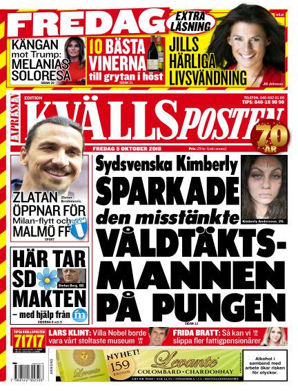 Kvällsposten October 05, 2018 00:00
