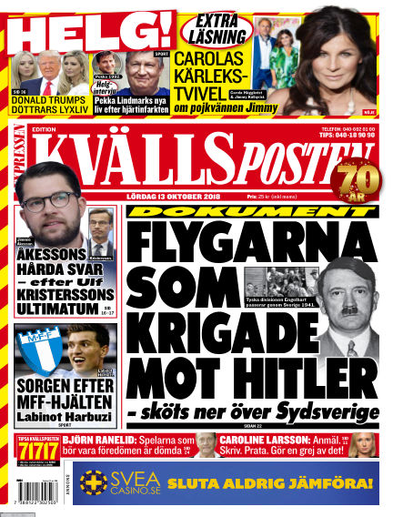 Kvällsposten October 13, 2018 00:00