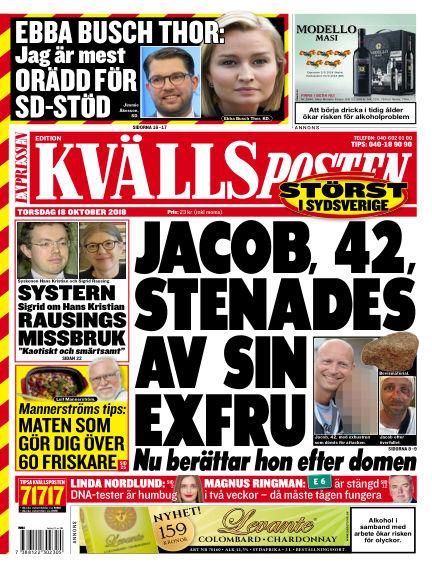 Kvällsposten October 18, 2018 00:00