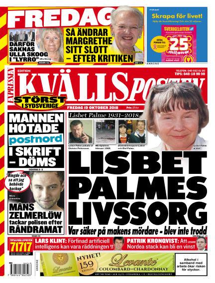 Kvällsposten October 19, 2018 00:00
