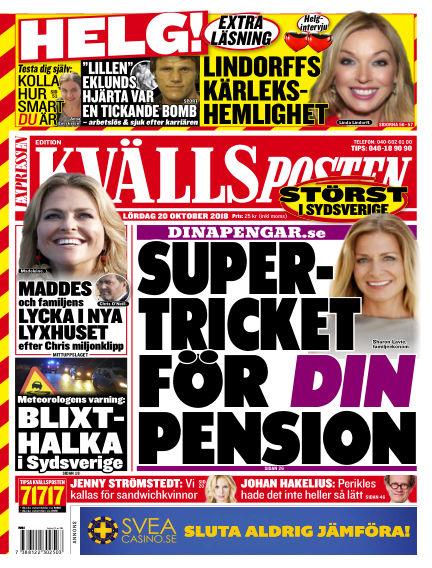 Kvällsposten October 20, 2018 00:00