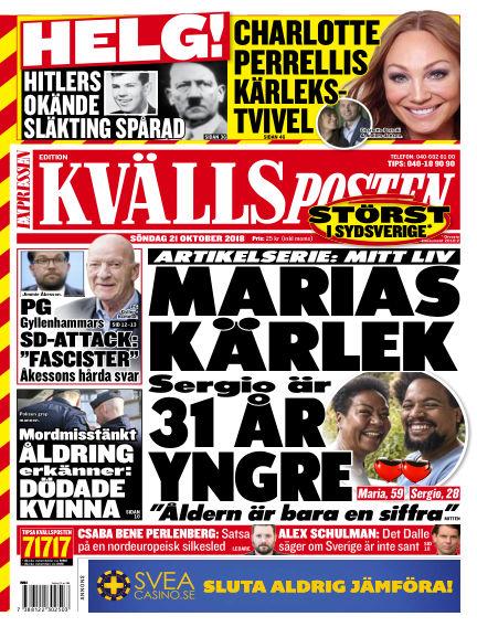 Kvällsposten October 21, 2018 00:00