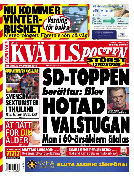 Kvällsposten October 23, 2018 00:00