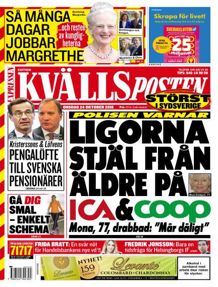 Kvällsposten October 24, 2018 00:00