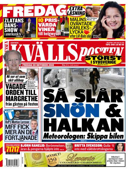 Kvällsposten October 26, 2018 00:00