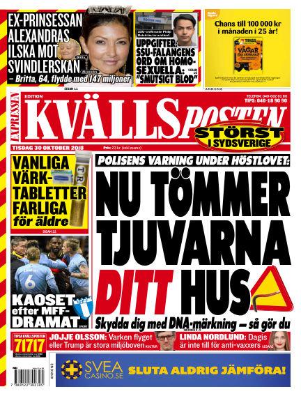 Kvällsposten October 30, 2018 00:00
