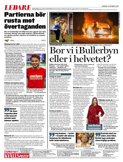 Kvällsposten October 31, 2018 00:00