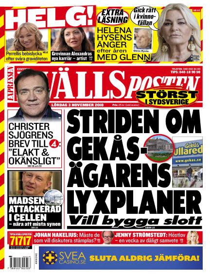 Kvällsposten November 03, 2018 00:00