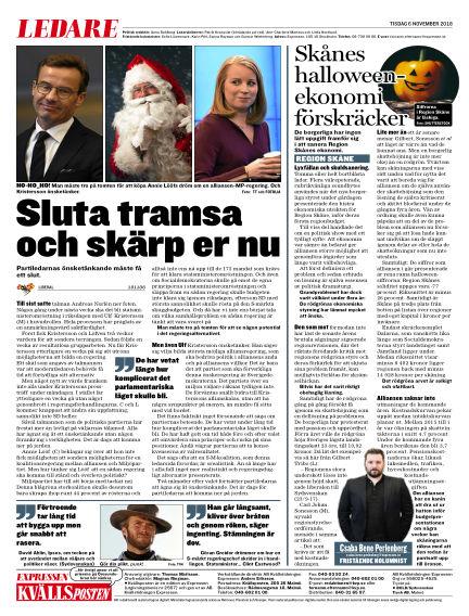 Kvällsposten November 06, 2018 00:00