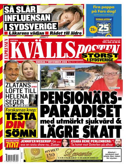 Kvällsposten November 07, 2018 00:00