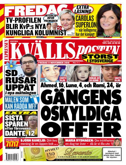 Kvällsposten November 09, 2018 00:00