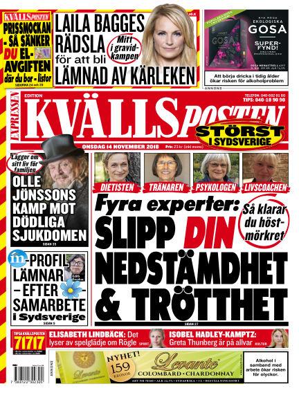 Kvällsposten November 14, 2018 00:00