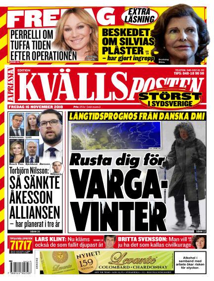 Kvällsposten November 16, 2018 00:00