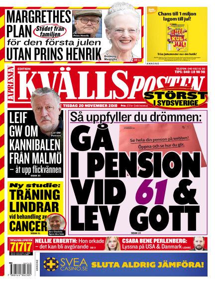Kvällsposten November 20, 2018 00:00