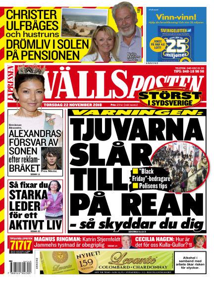 Kvällsposten November 22, 2018 00:00